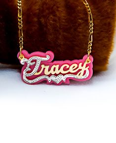 Name Necklace with Acrylic