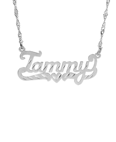 "Name Pendant w/ Diamond Cut ""Tammy"""