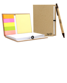 Notebook w/ Sticky Notes And Flag