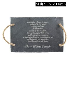 Our Father's Prayer Slate Tray