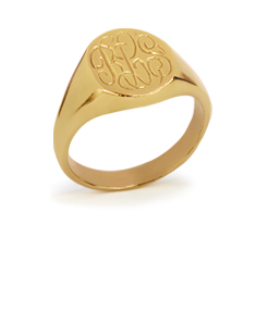 Oval Signet Monogram Ring