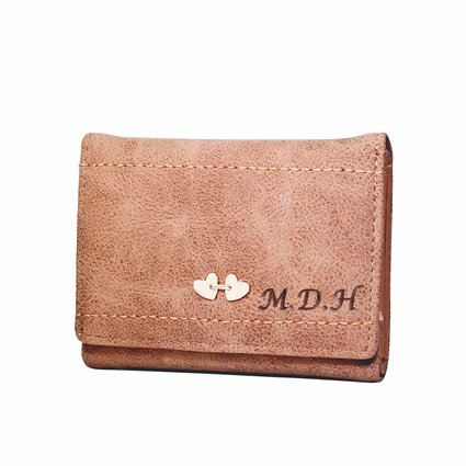 Personalize Heart Leather Wallet