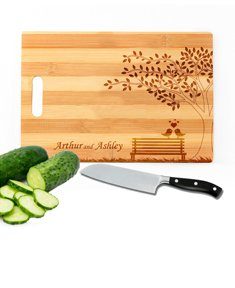 Personalized Love Birds Cutting Board