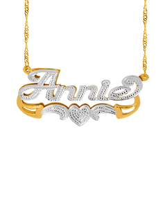 "Personalized Double Nameplate ""Annie"""