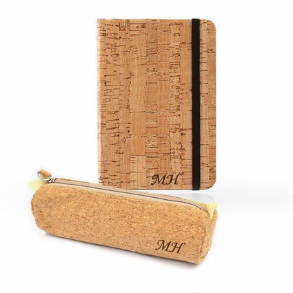 Personalized Eco-Friendly Cork Case Set