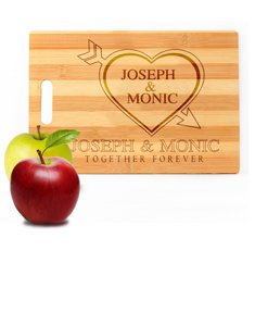 Personalized Heart Cutting Board