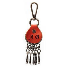 Personalized Leather Key Holder with Individual Clips
