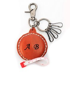 Personalized Leather Key Holder with Measuring Tape