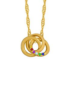 """Personalized Love Knot Pendant & 18"""" Link Chain"""
