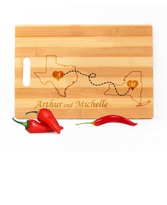 Personalized Lovely Maps Cutting Board