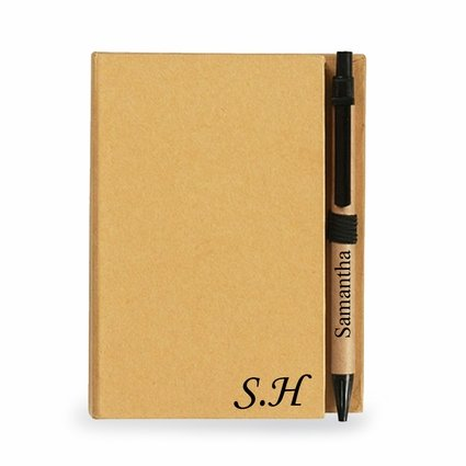 Personalized Notebook With Sticky Notes And Flags