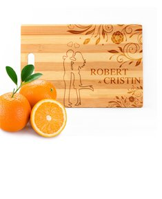 Personalized Love Cutting Board