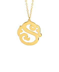 Personalized Single Initial Monogram Pendant