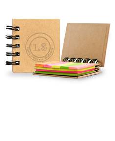 Personalized Spiral Book w/ Sticky Notes And Flags