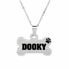 Personalized Stainless Steel Bone Necklace