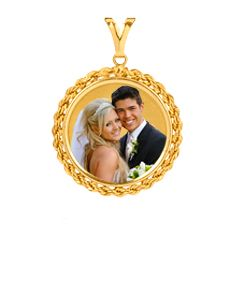 Portrait Pendant with Rope Frame