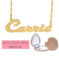 "Script Name Necklace ""Carrie"""