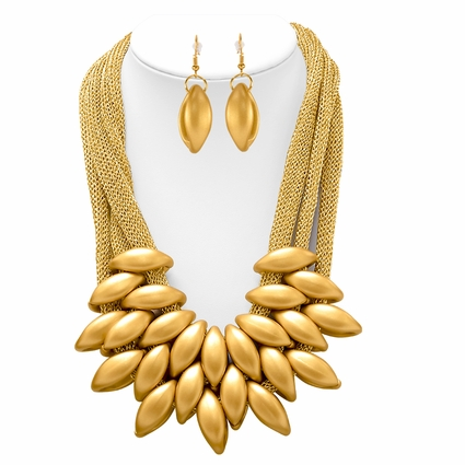 Statement Necklace with Earrings