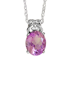 Sterling Silver Pendant with Color Stone