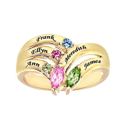 Personalized Adam & Eve Family Ring