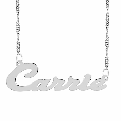"""Script Name Necklace """"Carrie"""""""