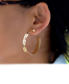 Tapered Name Earrings