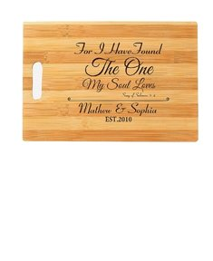 'The One' Engraved Cutting Board