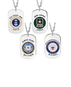 U.S Military Tag Pendants with Engraving