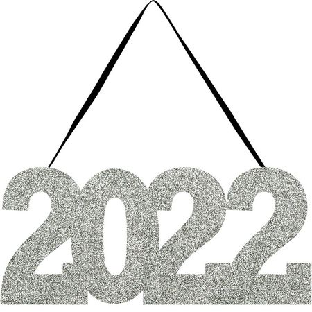 2022 Glitter Hanging Signs 12 ct