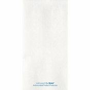 8.25 in x 4.25 in Bio-Shield Linen-Like White Dinner Napkins 300 ct
