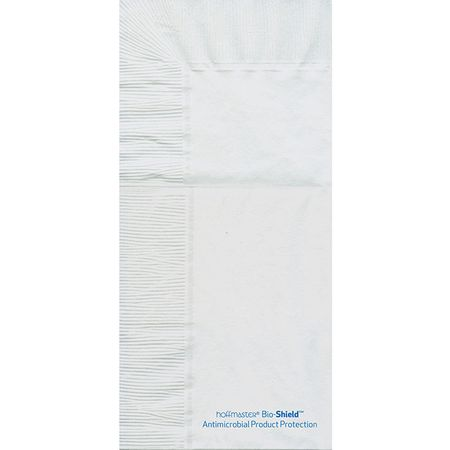 8.25 in x 4.25 in Bio-Shield Quickset White Dinner Napkins 800 ct