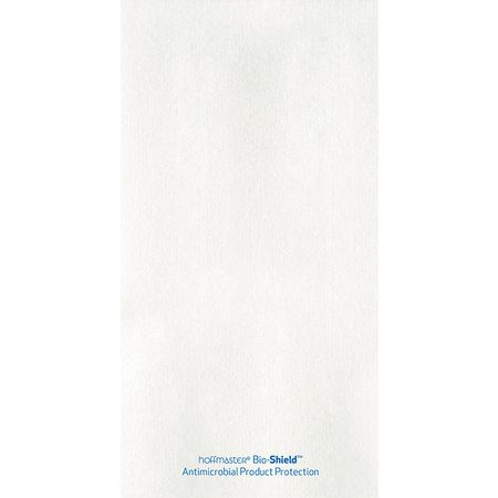 8.5 in x 4.5 in Bio-Shield Linen-Like White Guest Towels 500 ct