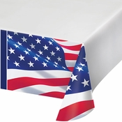 American Flag Paper Tablecloths 12 ct