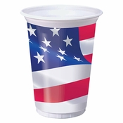 American Flag Plastic Cups 96 ct