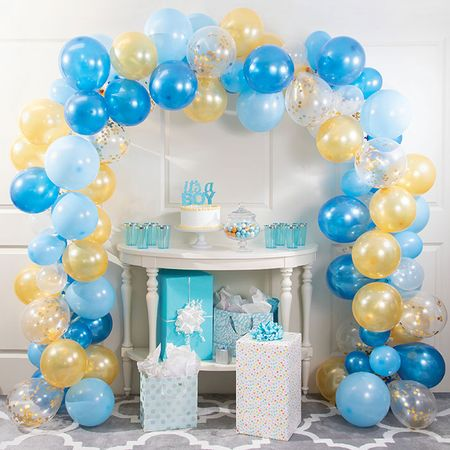Blue and Gold Balloon Arch Kits 672 ct