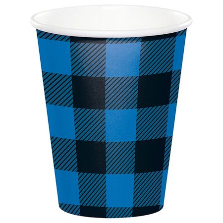 Blue Buffalo Plaid Paper Cups 96 ct