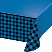 Blue Buffalo Plaid Paper Tablecloths 6 ct
