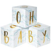 Blue Marble Baby Shower Oh Baby Blocks Centerpieces 18 ct