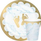 Blue Marble Baby Shower Party Supplies