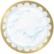 Blue Marble Dinner Plates 96 ct