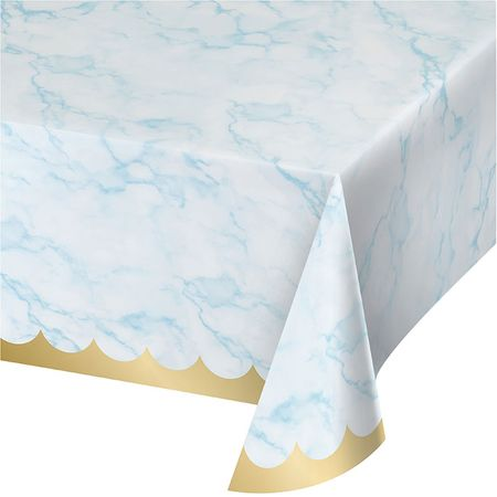 Blue Marble Paper Tablecloths 6 ct