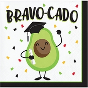 Bravo-cado Graduation Beverage Napkins 192 ct