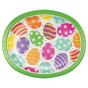 Bright Easter Eggs Oval Paper Plates 96 ct