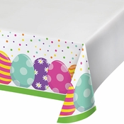 Bright Easter Eggs Paper Tablecloths 12 ct