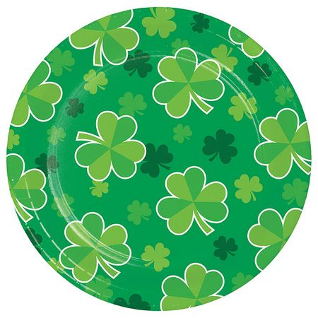 Clover St. Patricks Day Dessert Plates 96 ct