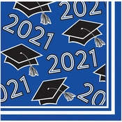 Cobalt Blue 2021 Grad Beverage Napkins 360 ct
