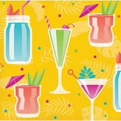Colorful Cocktails Beverage Napkins 192 ct