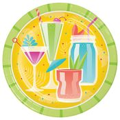 Colorful Cocktails Dinner Plates 96 ct