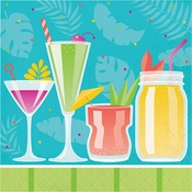 Colorful Cocktails Luncheon Napkins 192 ct