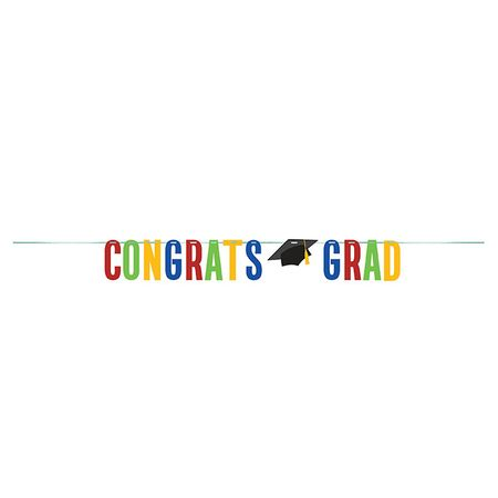 Colorful Graduation Banners 12 ct